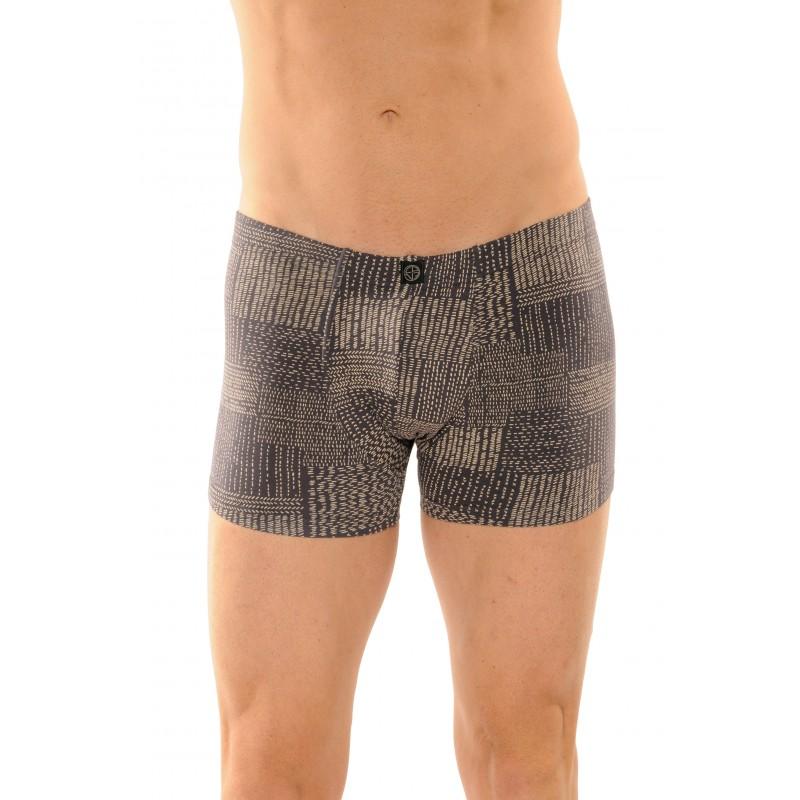 boxer marque christian cane mod le brooklyn couleur gris fonce lingerie paradis. Black Bedroom Furniture Sets. Home Design Ideas