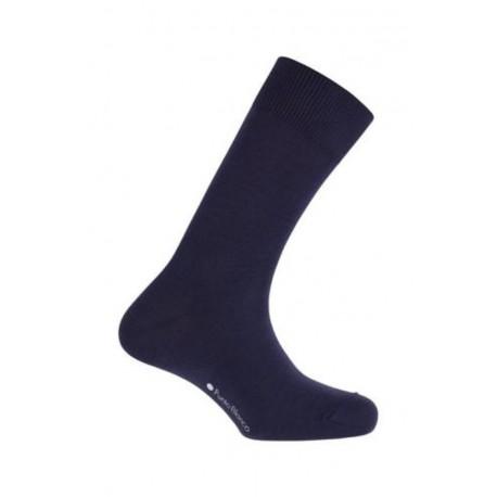 CHAUSSETTES COTON ELASTIQUE marque PUNTO BLANCO couleur BLEU MARINE Taille Unique