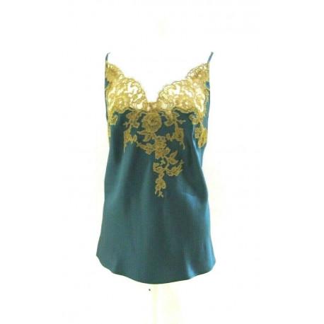 CARACO marque MARJOLAINE 100% SOIE modèle EGERIE couleur CEDRE / DORE
